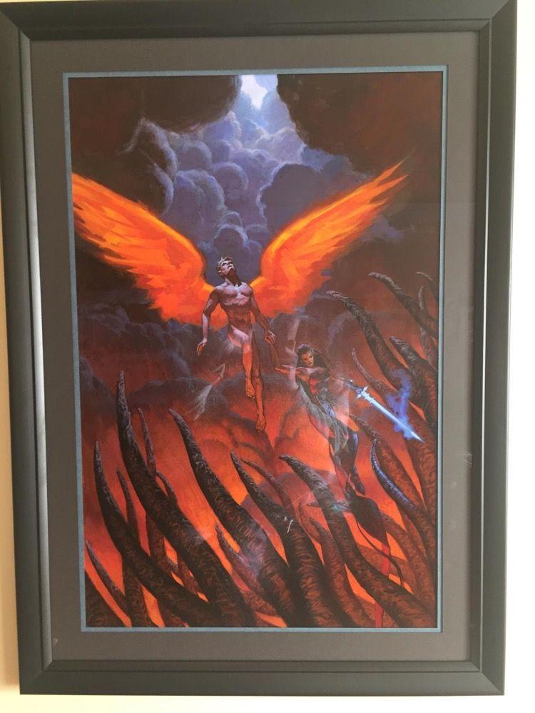 Christopher Moeller Lucifer Commissions Framed - Original Comic Art ...