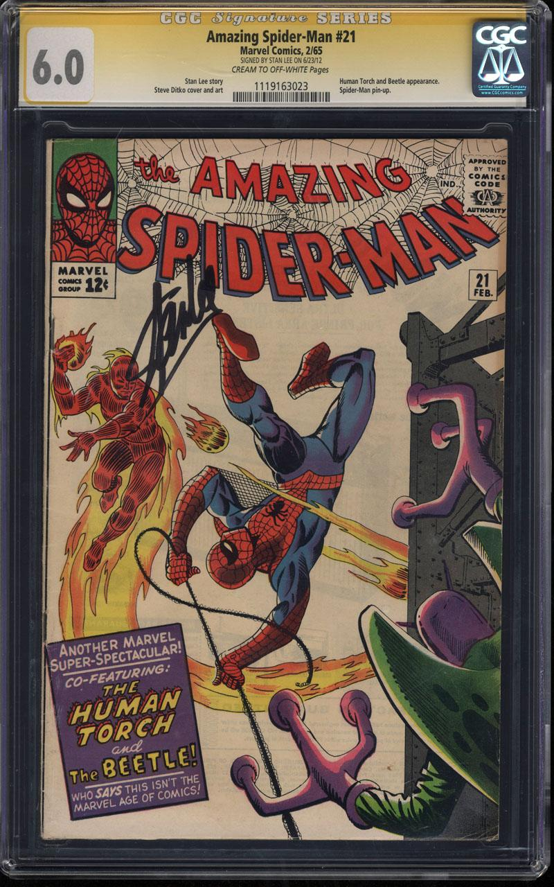 Amazing Spider Man Slabs Mostly Stan Lee SS 12171821
