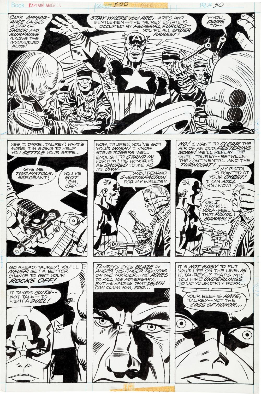 Jack Kirby Art For Sale Sweet Cover Killer Cap Page