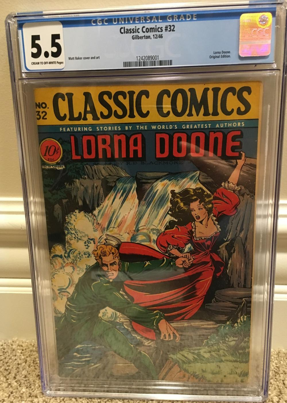 CLOSED] Classic Comics 32 CGC 5 5 Matt Baker Cover - Golden