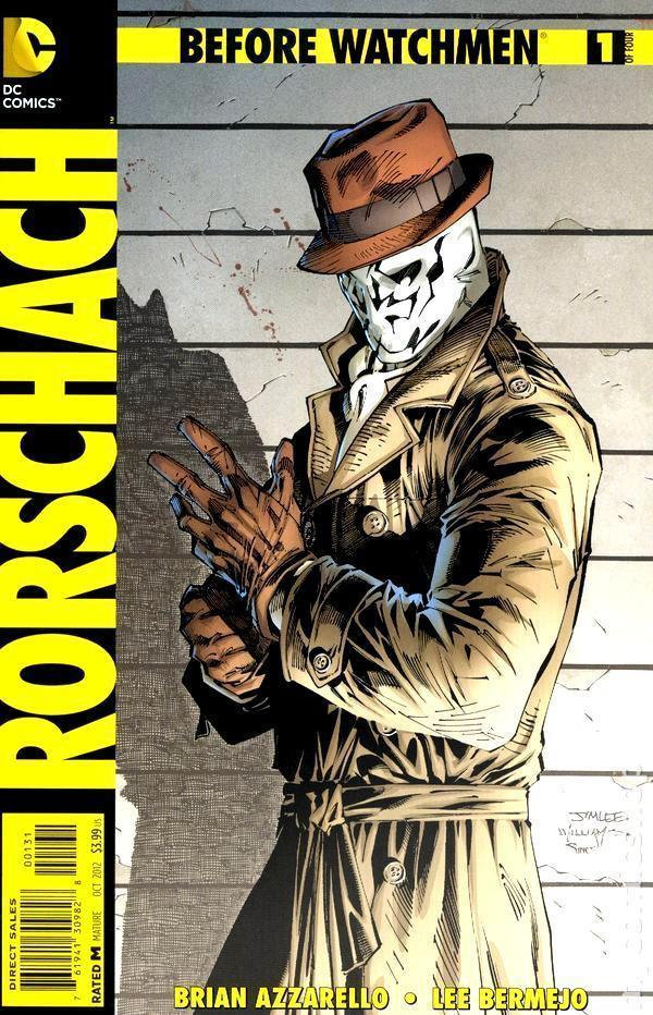 before watchmen rorschach 1 jim lee 1 200 variant cover edition dc