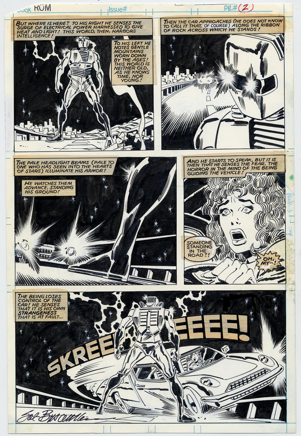 on sale 0d169 d6a93 ROM #1 pg 2 Sal Buscema on Ebay May 4th 7pm EST - Original ...