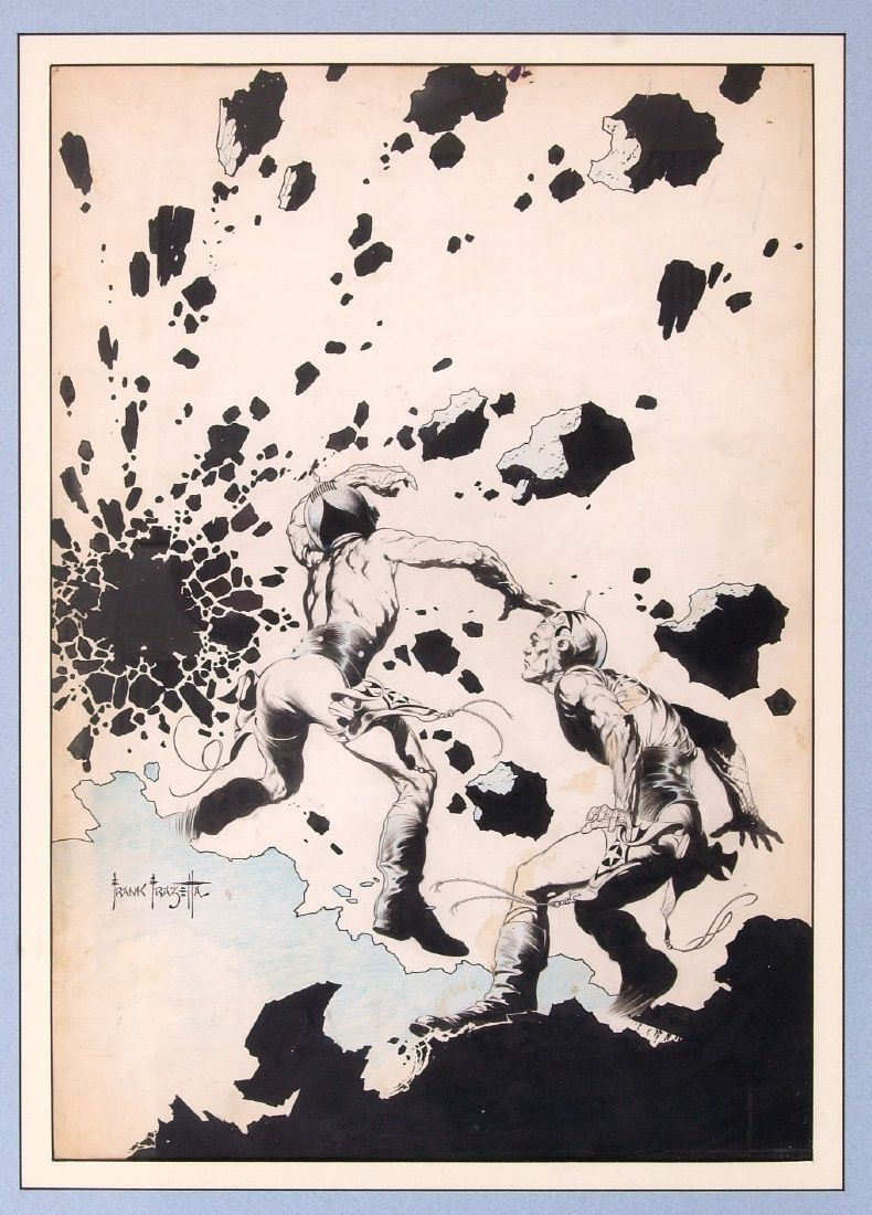Famous Funnies issue 212 cover by Frank Frazetta.