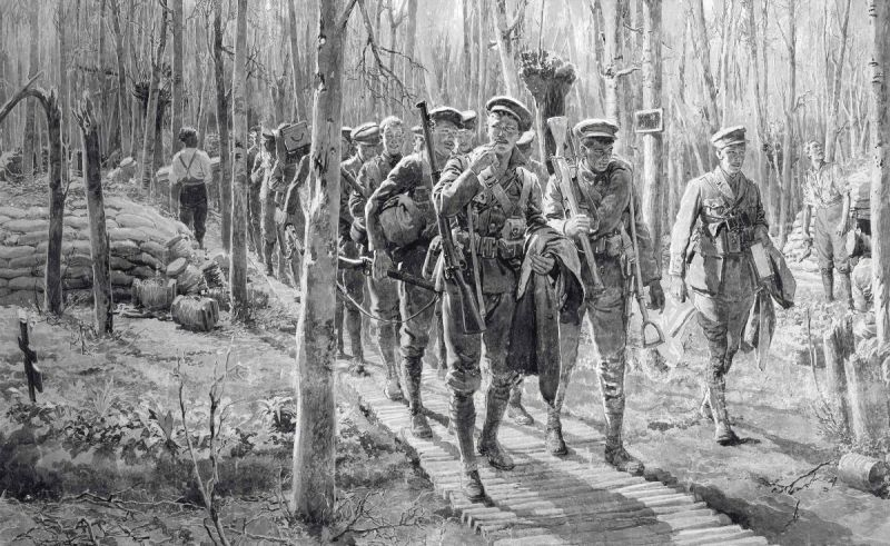 2014_CSK_05289_0008_000(fortunino_matania_ri_soldiers_in_woodland_near_ypres_marching_along_re).jpg
