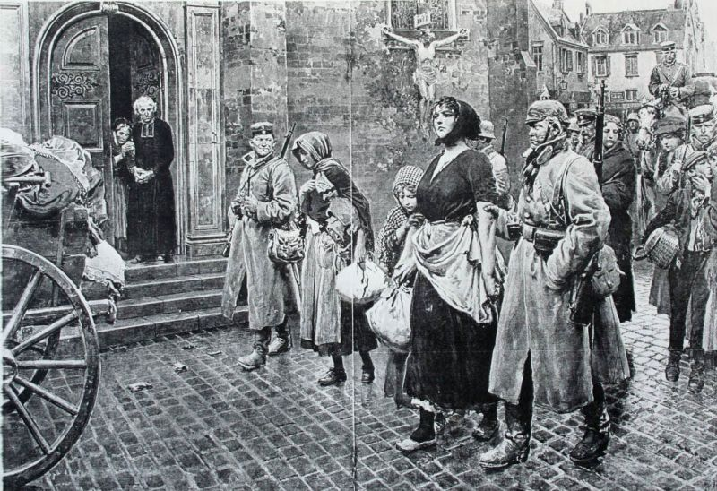 11a Into captivity, a scene in a belgian town.JPG