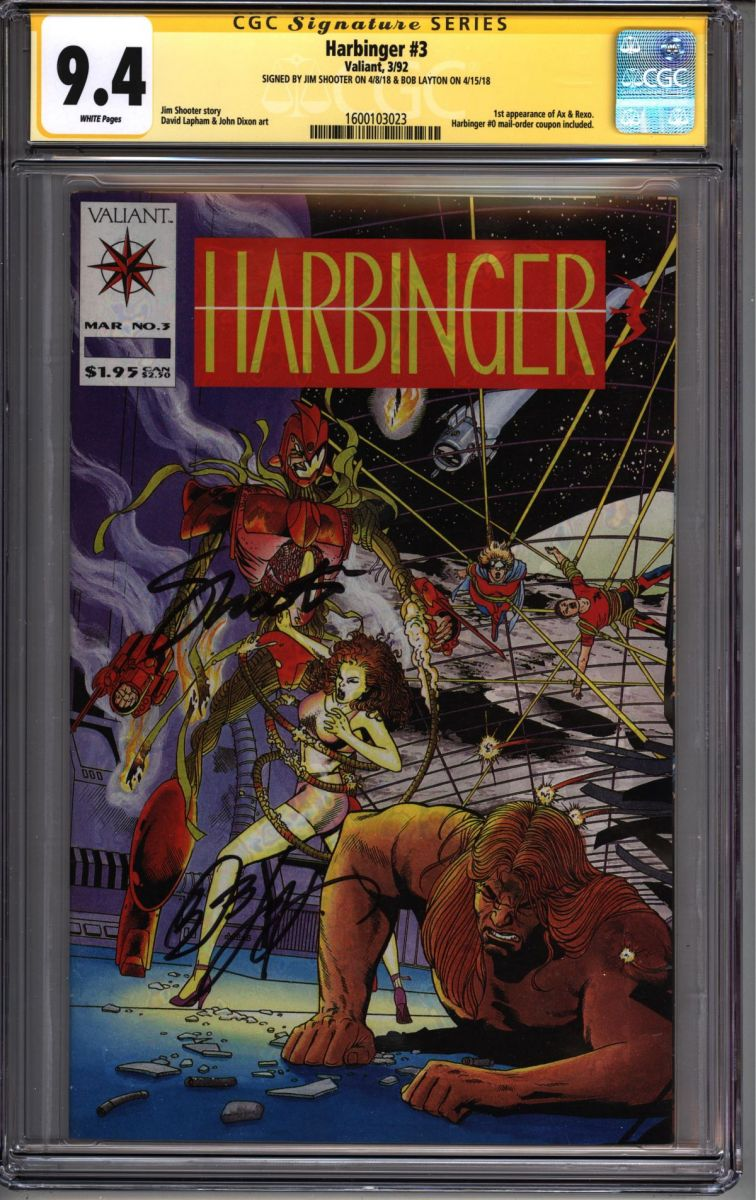 HARBINGER 10 CGC 9.8 10//92 1ST APP OF H.A.R.D CORPS  JIM SHOOTER DAVID LAPHAM