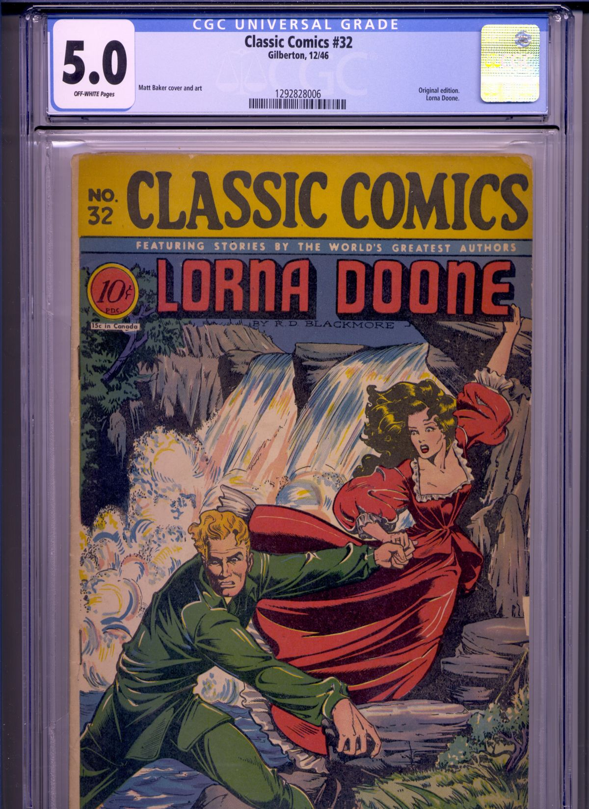 CLOSED] Classic Comics 32 - CGC 5 0 - $225 - Matt Baker Art
