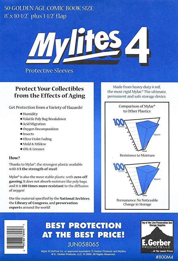 Question for those who own Mylites 4 golden age mylar