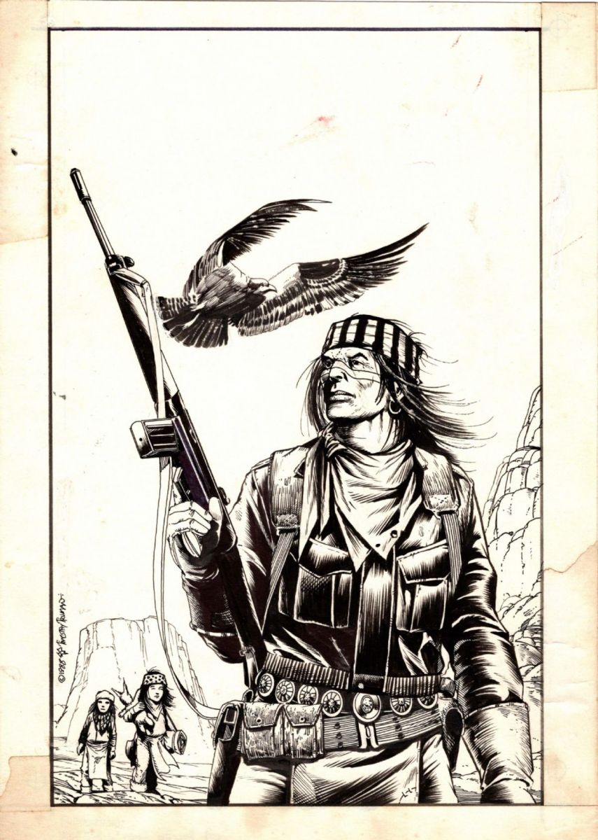 SCOUT WAR SHAMAN #6 Cover by Tim truman 1988.jpg
