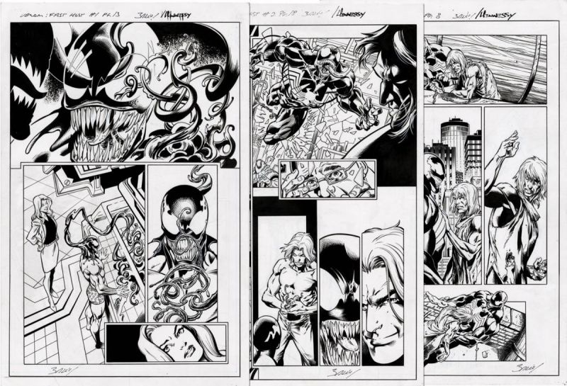 Bagley venom first host lot of 3 pages.jpg