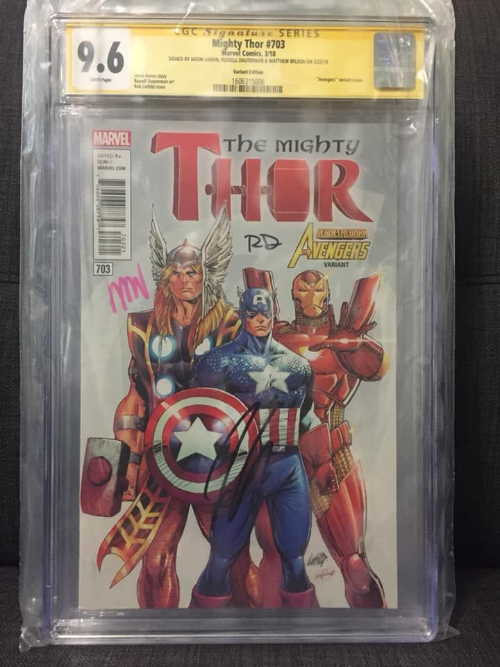 Mighty Thor #703 (Variant Edition) Signed by Jason Aaron, Russell Dauterman and Matthew Wilson.jpg