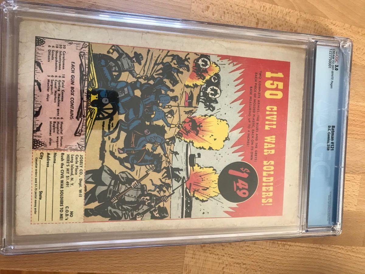 Batman 121 3 0 -- First appearance of Mr  Zero -- $1000 - Golden