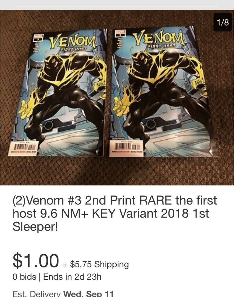 eBay - High grade / high demand HOT! Venom 3 2nd Print etc