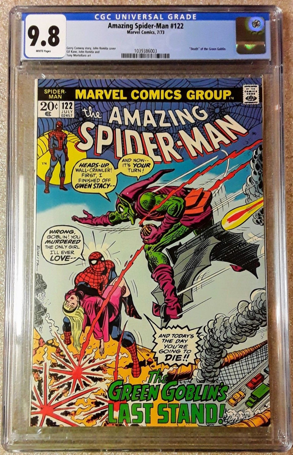 Sold Amazing Spider Man 122 Cgc 9 8 White On Sale Ebay Comics Market Sales Advertising Ebay Dealers Etc Cgc Comic Book Collectors Chat Boards