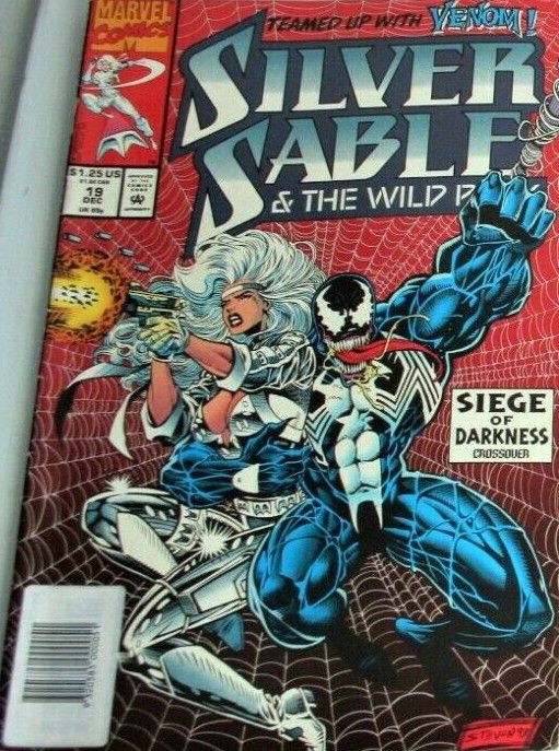 [93-12] BARCODE COVERED WITH SAME LARGE LABEL e.g. on Silver Sable And The Wild Pack #19 (Dec1993) $1.25 US price showing, COMMON PRACTICE FOR AUS NEWSSTANDS SALES 1993-1995 .jpg