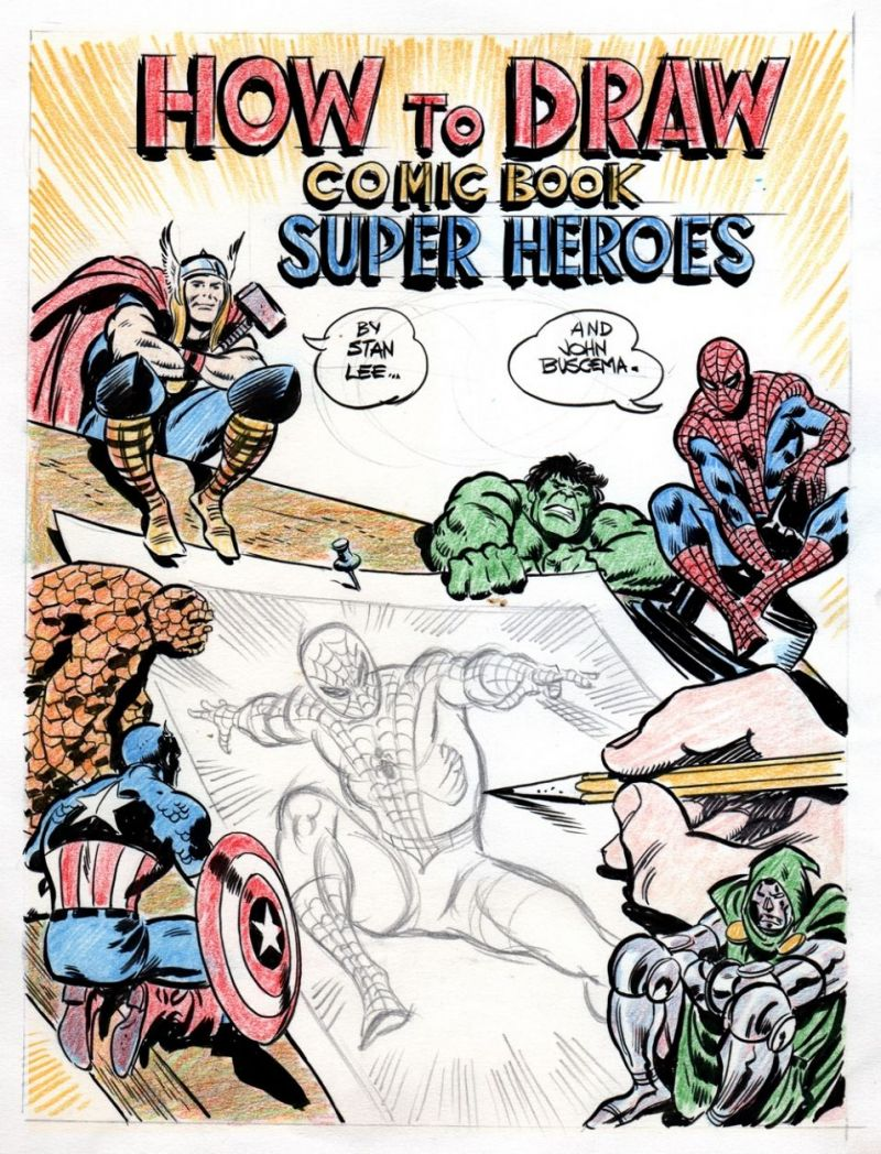 How to Draw Comics the Marvel Way (Comic Book Super-Heroes) cover prelim.jpg