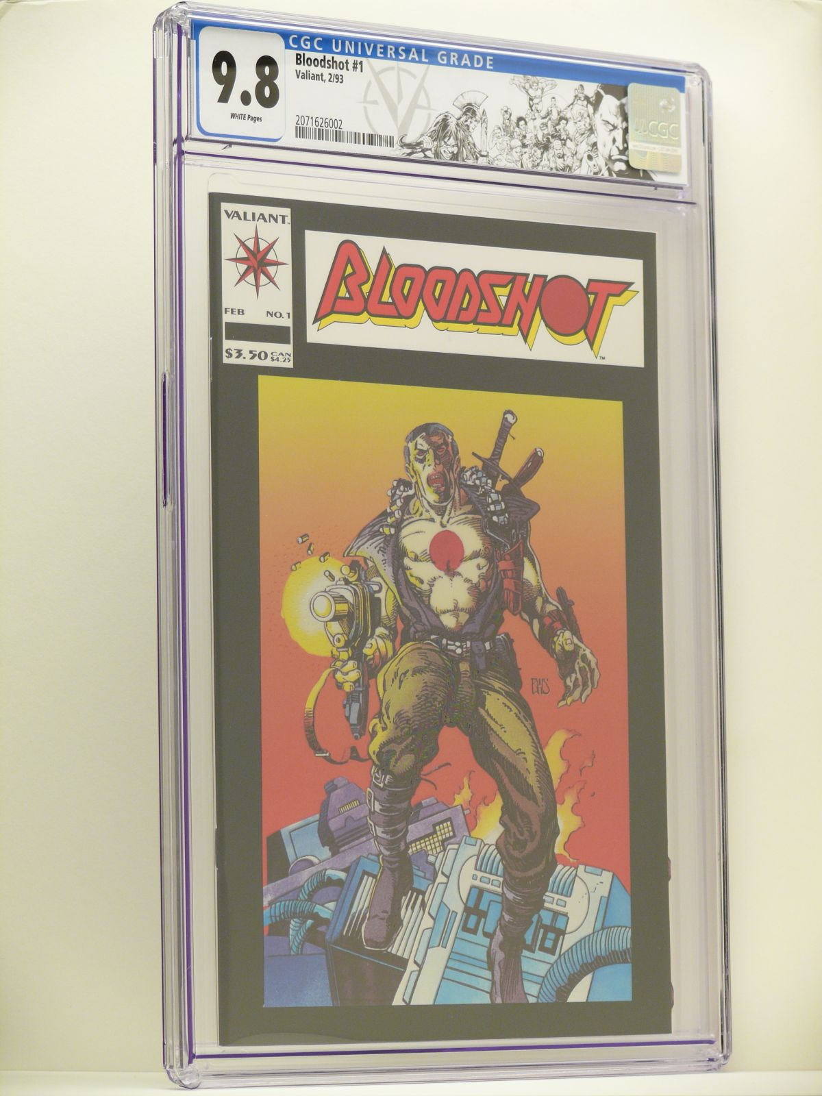 First Series Bloodshot 1 Cgc 9 8 At 47 00 Ebay Auction Ending Today Comics Market Sales Advertising Ebay Dealers Etc Cgc Comic Book Collectors Chat Boards