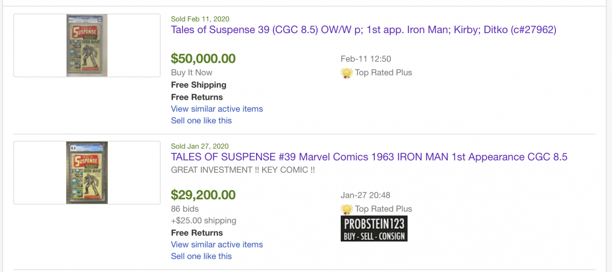 The Case For Ebay Auction Vs Buy It Now In One Pic Comics General Cgc Comic Book Collectors Chat Boards
