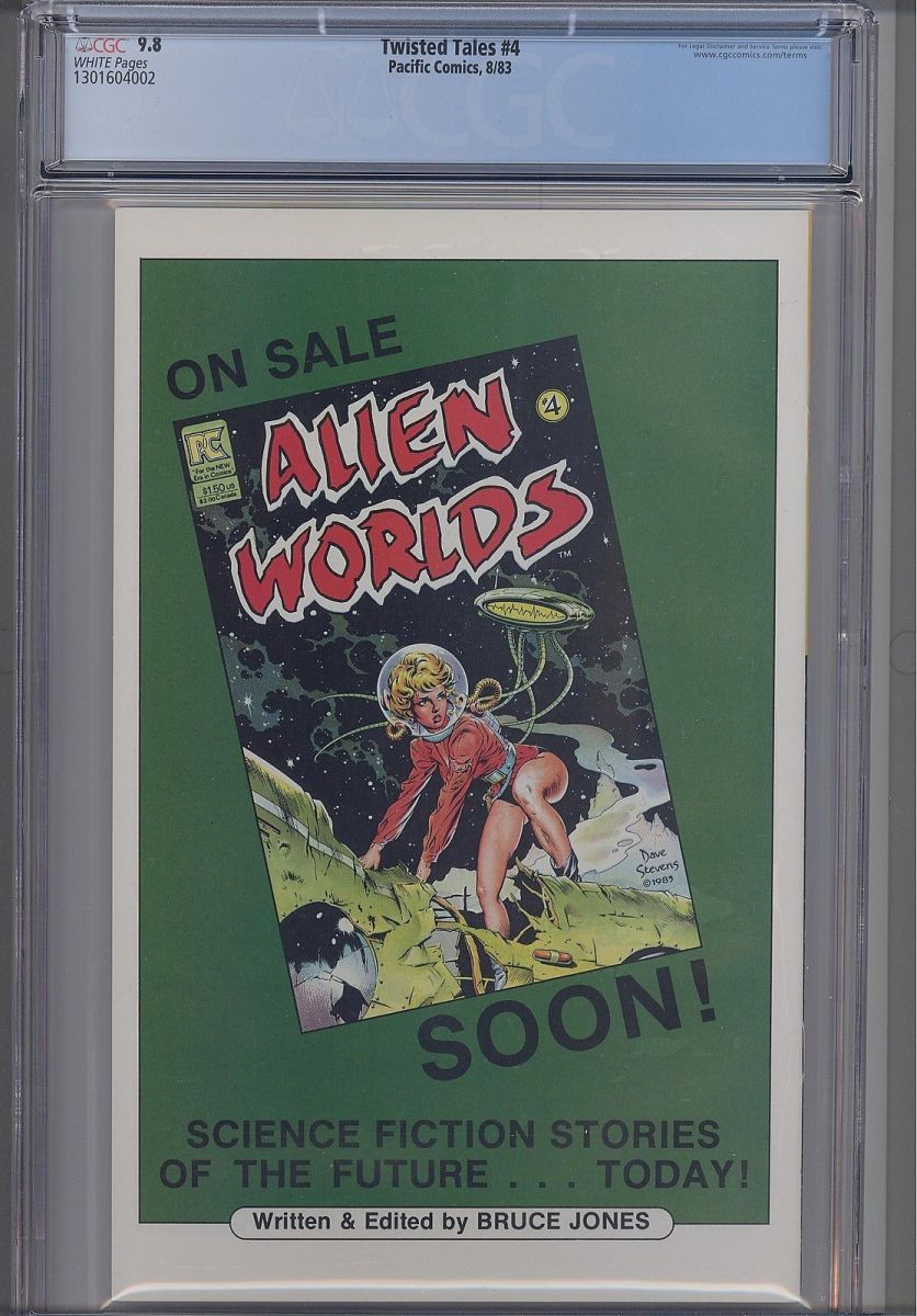 Twisted Tales #4 CGC 9.6 (Dave Stevens Back Cover).jpeg.jpg